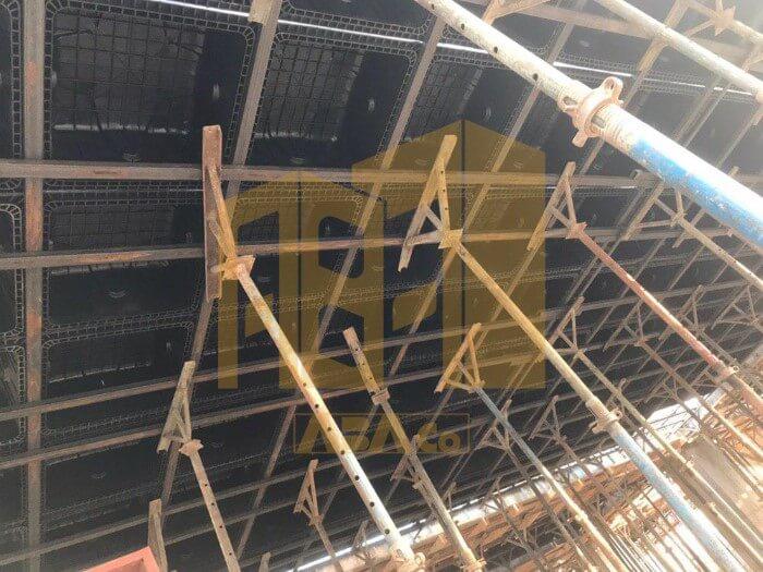 روش اجرای مدولار سقف وافل (عدم نیاز به کفراژ سطح)