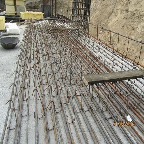 بستن آرماتورهای تیرچه در سقف نیرچه درجا